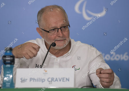 Stock Image of Sir Philip Craven Mbe President Of The International Paralympic Committee Speaks At A Press Conference In Rio In Advance Of The Opening Ceremony See Martha Kelner/david Williams Story Rio Paralympics  7916