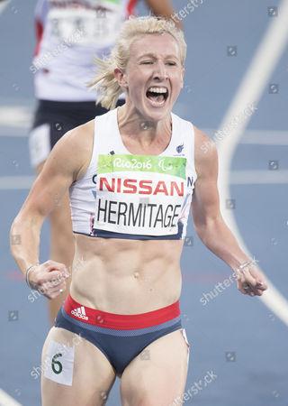 British Paralympian Georgina Hermitage Wins Gold In The 100m T 37  (rio Paralympics) 9916