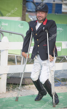 Lee Pearson. British Paralympian Equestrian Lee Pearson Who Carried The Flag In The Paralympic Opening Ceremony Pictured With His Silver Medal Won In The Individual Championship Test On His Horse Zion.