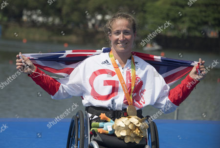 Rachel Morris  (rio Paralympics) 11916 Former Handcyclist Rachel Morris Collects Her Gold In The Rowing  See Story
