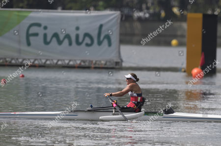 Editorial picture of Rachel Morris. From Jamie Wiseman (rio Paralympics) 11.9.16 Former Handcyclist Rachel Morris Powers To A Gold In The Rowing . See Story.
