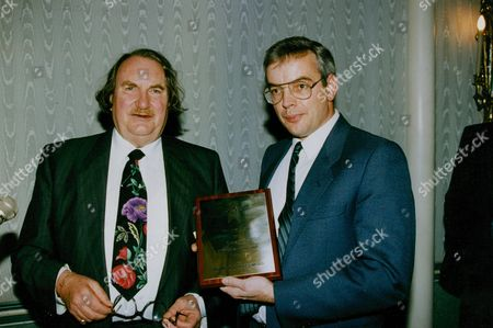 Daily Mail-ryman Small Business Award. Sir John Harvey-jones (left) With Philip Busby Of Busby Holdings Ltd. Winner Of The Ryman Prize For Small Businesses. Box 738 1014031733 A.jpg.