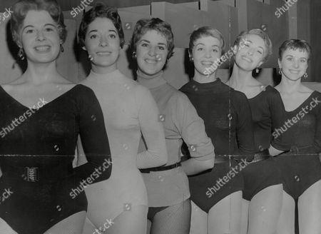 Six Of The Dancers Chosen To Appear On Sunday Night At The London Palladium. L-r: Gay Owen Joyce Chapman Sonia Bendi Angela Bracewell Wendy Garton And Valerie Hayes. Box 743 831031753 A.jpg.