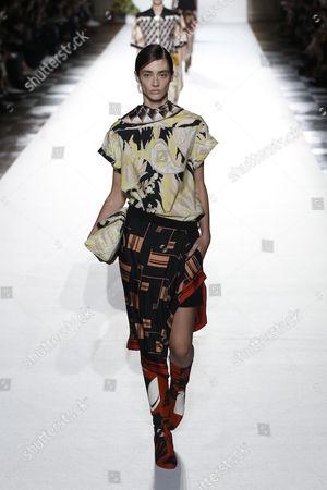 Editorial photo of Dries Van Noten show, Runway, Spring Summer 2018, Paris Fashion Week, France - 27 Sep 2017