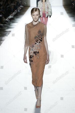 Stock Photo of Hannah Motler on the catwalk
