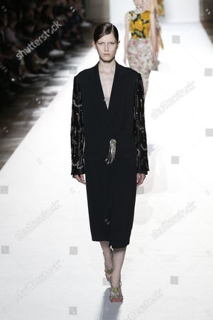 Stock Picture of Tessa Bruinsma on the catwalk