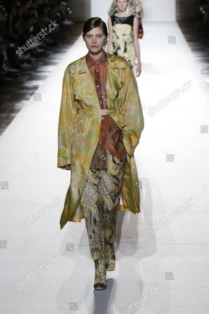 Editorial picture of Dries Van Noten show, Runway, Spring Summer 2018, Paris Fashion Week, France - 27 Sep 2017