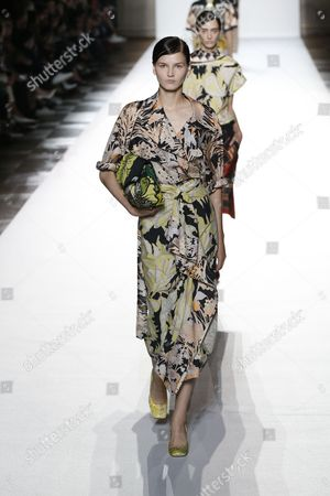 Stock Image of  Katlin Aas on the catwalk