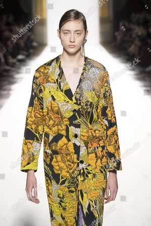 Editorial image of Dries Van Noten show, Runway, Spring Summer 2018, Paris Fashion Week, France - 27 Sep 2017