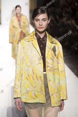 Stock Photo of Milena Litvinovskaya on the catwalk