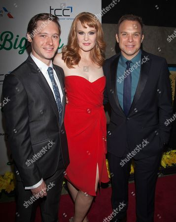 Actors Bobby Steggert, Kate Baldwin and Norbert Leo Butz attend an after party for the 'Big Fish' Broadway Opening Night on Sunday, October, 7, 2013 in New York
