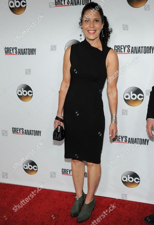 "Linda Lowy arrives at ""Grey's Anatomy"" 200th Episode event at The Colony on in Los Angeles"