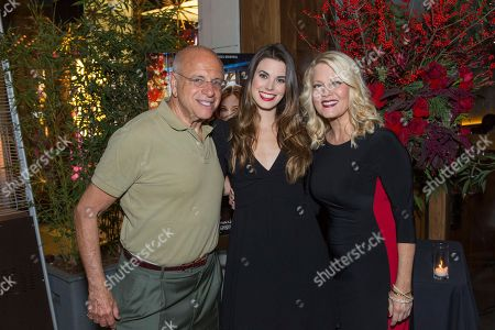 """Meghan Ory, center, Barbara Niven, right, and guest attend a screening for Hallmark Movies & Mysteries """"Operation Christmas"""" at The Gove on in Los Angeles"""