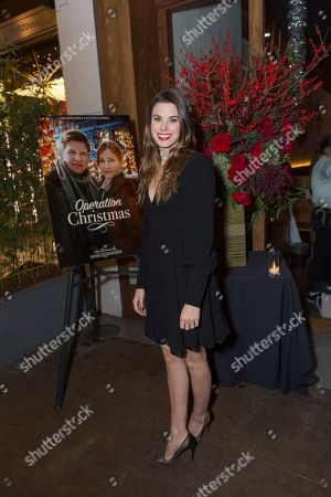 """Meghan Ory attends a screening for Hallmark Movies & Mysteries """"Operation Christmas"""" at The Gove on in Los Angeles"""