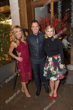 """Debbie Matenopoulos, from left, Mark Steines and Alison Sweeney attend a screening for Hallmark Movies & Mysteries """"Operation Christmas"""" at The Gove on in Los Angeles"""