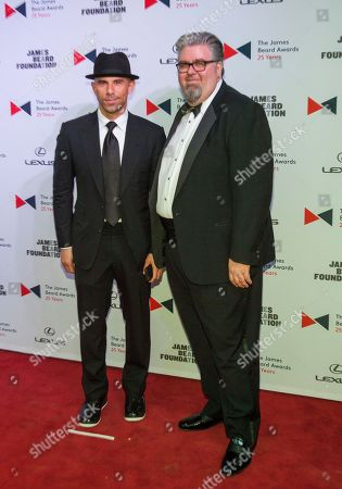 Billy Dec and Chef Kevin Hickey walk the red carpet during the 2015 James Beard Awards at Lyric Opera of Chicago on in Chicago