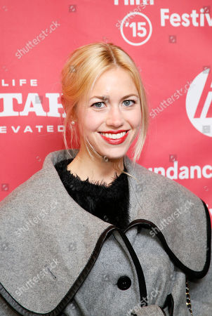 """Actress Charlotte Ubben poses at the premiere of """"Ten Thousand Saints"""" during the 2015 Sundance Film Festival, in Park City, Utah"""