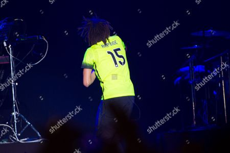 Artist J. Cole performs in a Megan Rapinoe soccer jersey at the 2016 The Meadows Music and Arts Festivals at Citi Field, in Flushing, New York