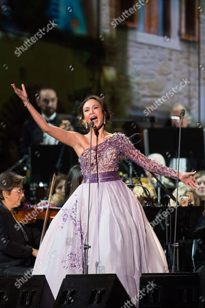 Maria Aleida performs in concert at Madison Square Garden on in New York