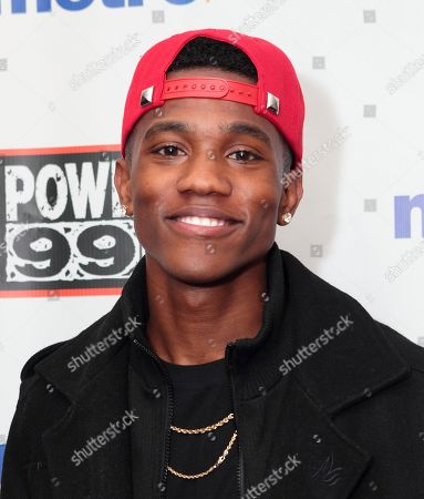 Stock Picture of R&B singer B. Smyth visits radio station WUSL Power 99 FM iHeartradio Performance Theater, in Philadelphia