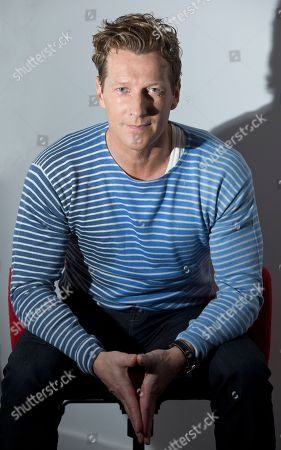 Magnus Scheving poses during a portrait session, following an interview with the Associated Press at the Interchange, in Camden, north London