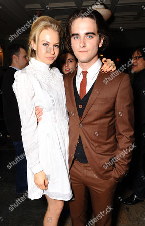 Actress Penelope Mitchell and actor Landon Liboiron attend the Hemlock Grove North American Premiere After Party, in Toronto