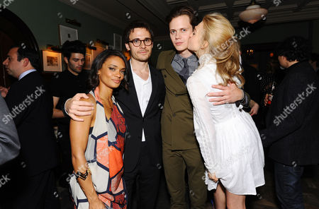 Actress Kandyse McClure, Writer Brian McGreevy, Actor Bill Skarsgard and Actress Penelope Mitchell attend the Hemlock Grove North American Premiere After Party, in Toronto