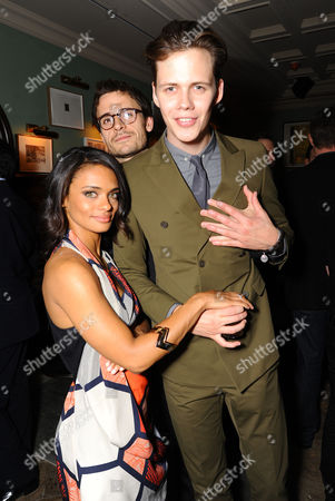 Actress Kandyse McClure, Writer Brian McGreevy, and Actor Bill Skarsgard attend the Hemlock Grove North American Premiere After Party, in Toronto