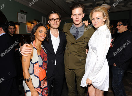Stock Image of Actress Kandyse McClure, Writer Brian McGreevy, Actor Bill Skarsgard and Actress Penelope Mitchell attend the Hemlock Grove North American Premiere After Party, in Toronto