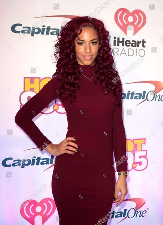 Stock Picture of Natalie La Rose poses for photographers backstage during Hot 99.5's iHeartRadio Jingle Ball 2015 at the Verizon Center, in Washington, D.C