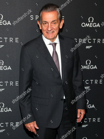 """President of Omega Stephen Urquhart attends a special screening of """"Spectre"""" hosted by Omega, at the AMC Loews Lincoln Square, in New York"""