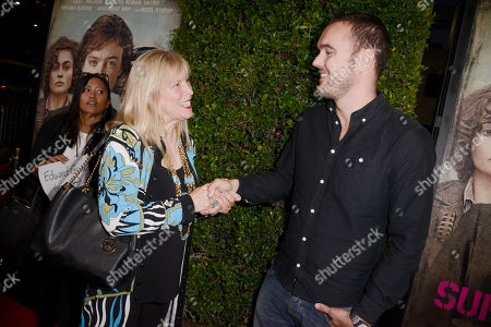 Candy Clark and Cinematographer Eduard Grau seen at Los Angeles Premiere of Focus Features' 'Suffragette' at the Academy of Motion Pictures Arts and Sciences, in Los Angeles, CA