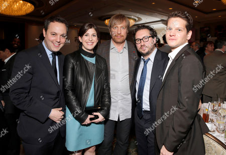 The Imitation Games' Producer Ido Ostrowsky, Producer Nora Grossman, Director Morten Tyldum, Producer Teddy Schwarzman and Executive Producer Graham Moore attend the AFI Awards at The Four Seasons Hotel on in Los Angeles