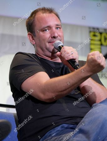 "Trey Parker attends the ""South Park"" panel on day 2 of Comic-Con International, in San Diego"