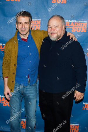 "David Cromer, left, and Stephen McKinley appear at a press opportunity for the upcoming Broadway production of ""A Raisin in the Sun"" on in New York"
