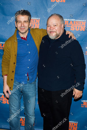 David Cromer, left, and Stephen McKinley appear at a press opportunity for the upcoming Broadway production of 'A Raisin in the Sun' on in New York