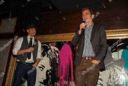 Rockit Ranch Productions CEO Billy Dec with actor and ensemble member Michael Shannon during the A Red Orchid Theatre's Annual Gala at the Underground, on in Chicago