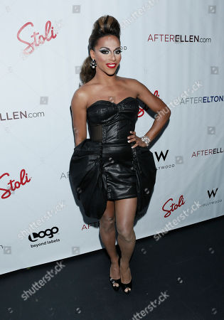 Stock Picture of Tyra Sanchez attends Logo's AfterEllen & AfterElton Inaugural Hot 100 Party at the W Hotel on in Los Angeles