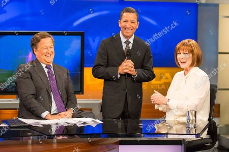 Television Academy Chairman and CEO Bruce Rosenblum, surprises Stephanie Edwards by announcing she is this year's recipient of the esteemed Los Angeles Area Governors Award during the KTLA News with Sam Rubin at 9am on in Los Angeles. Edwards will be honored at the 68th Los Angeles Area Emmy Awards on Saturday, July 23, 2016