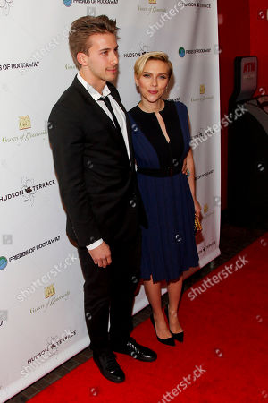 Hunter Johansson, left, and Scarlett Johansson, attend the Champions of Rockaway Hurricane Sandy Fundraiser at Hudson Terrace, in New York