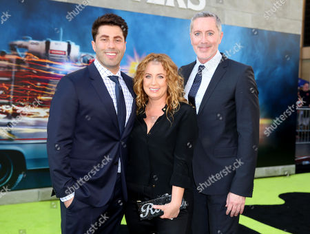 Adam Ray, Jessica Chaffin, and Michael McDonald are seen at the Los Angeles Premiere of Columbia Pictures' â?œGhostbustersâ?? at TCL Chinese Theatre, in Los Angeles
