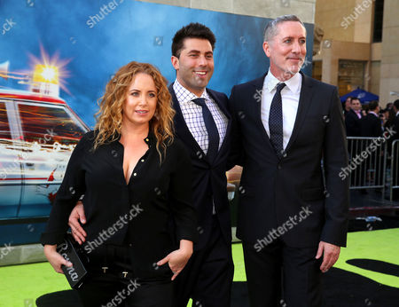 Jessica Chaffin, Adam Ray, and Michael McDonald are seen at the Los Angeles Premiere of Columbia Pictures' Ghostbusters at TCL Chinese Theatre, in Los Angeles