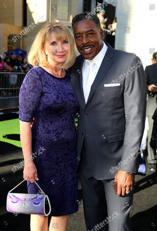 Linda Kingsberg and Ernie Hudson are seen at the Los Angeles Premiere of Columbia Pictures' Ghostbusters at TCL Chinese Theatre, in Los Angeles