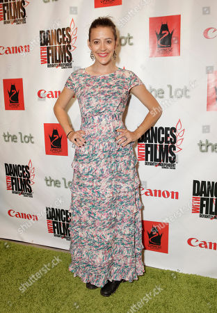 Actress Abby Miller arrives at the Fuzz Track City World Premiere at Dances With Films on in Los Angeles