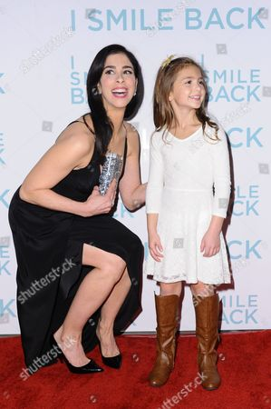 """Stock Image of Sarah Silverman, left, and Shayne Coleman attend the LA Premiere of """"I Smile Back"""" held at ArcLight Hollywood, in Los Angeles"""