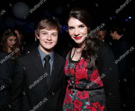 """Stock Photo of Chandler Canterbury and Stephenie Meyer attend the after party for the LA premiere of """"The Host"""" at the ArcLight Hollywood on in Los Angeles"""