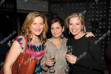 Stock Photo of Ana Gasteyer, Emily Cutler, and Kayla Alpert are seen at the The Buzz Girls Perrier Jouet Creatives dinner on in Los Angeles, Calif
