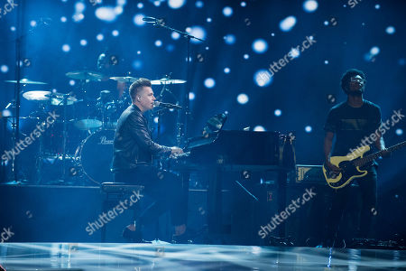 Shawn Hook seen on stage during WE Day, in Toronto