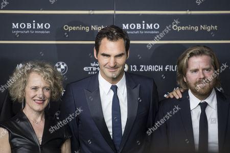 Roger Federer, Corine Mauch and Janus Metz