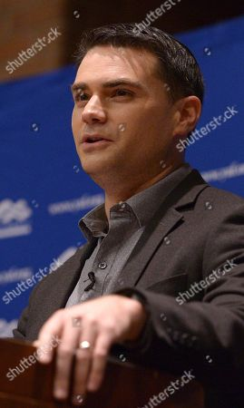 Controversial conservative commentator Ben Shapiro, editor-in-chief of the Daily Wire and former editor-at-large of Breitbart News, addresses the student group Young Americans for Freedom at the University of Utah's Social and Behavioral Sciences Lecture Hall, in Salt Lake City